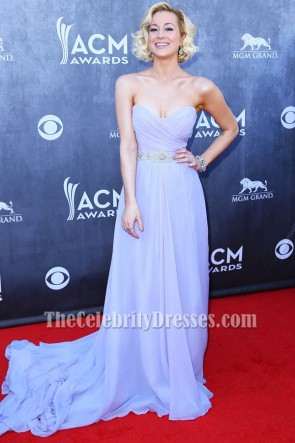 Kellie Pickler Lavender Prom Dress 49th Annual Academy of Country Music Awards