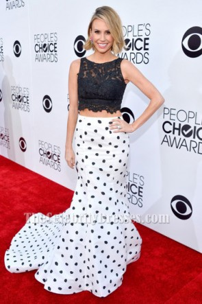 Keltie Knight Two Pieces Formal Dress 40th Annual People's Choice Awards Red Carpet TCD6171