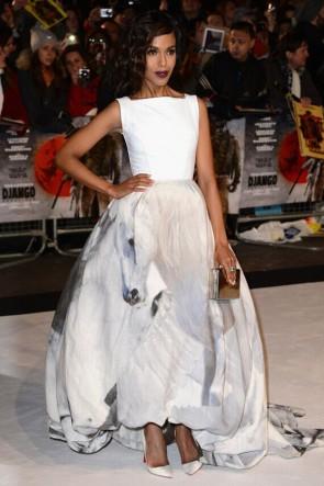 Kerry Washington A-Line Formal Dress Django Unchained London premiere TCD6393
