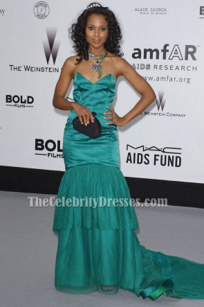 Kerry Washington Mermaid Strapless Formal Dress 60th Cannes Film Festival Red Carpet TCD6131