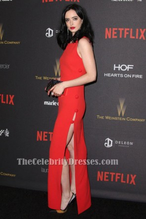 Krysten Ritter Red Evening Gown 73th Golden Globe Awards After Party Dress TCD6521