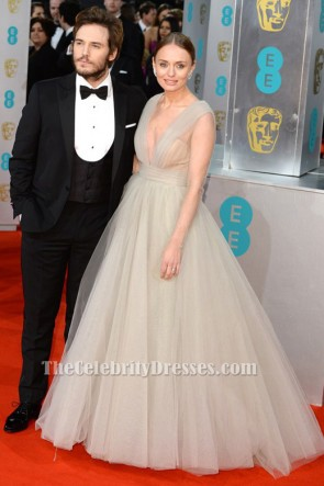 Laura Haddock Ball Gown 2015 BAFTAs Red Carpet Formal Dress TCD6400