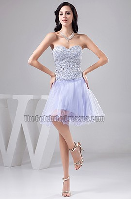 Lavender Sweetheart Strapless Beaded Party Homecoming Dresses