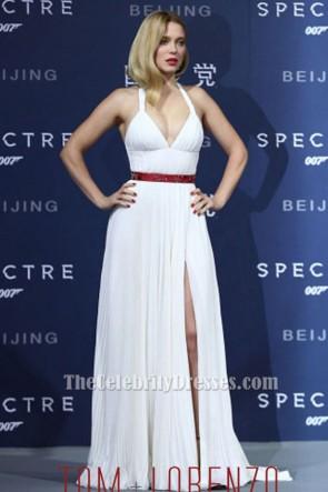 Lea Seydoux Sexy White Halter Evening Dress 'Spectre' Beijing Premiere TCD6417