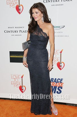 Lisa Vanderpump Lace Evening Dress 20th annual Race To Erase MS gala