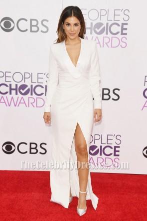 Liz Hernandez People's Choice Awards 2017 White Long Sleeve Formal Dress TCD7118