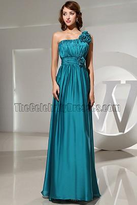 Discount Long One Shoulder Bridesmaid Evening Dresses