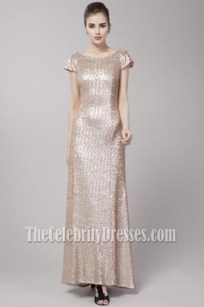 Matt Sequins Floor Length Formal Dress Prom Evening Gown