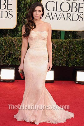 Megan Fox Golden Globe Awards 2013 Prom Formal Red Carpet Dresses