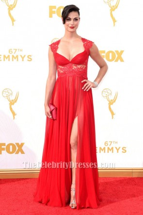 Morena Baccarin Red Formal Dress 67th Annual Primetime Emmy Awards TCD6345