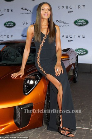 Naomie Harris Sexy Cut-Out Evening Dress Bond Car Launch Event TCD6307
