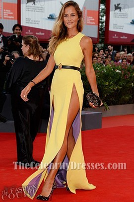Natalia Borges Yellow Prom Dress 2013 Venice Film Festival Premiere