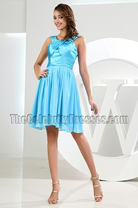 Discount Blue Short Party Graduation Homecoming Dresses