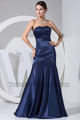 New Style Dark Navy Embroidery Mermaid Formal Dress Bridesmaid Dresses
