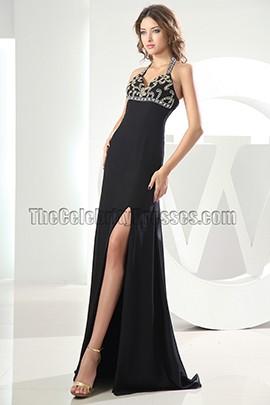 Sexy Halter Black Prom Dress Evening Formal Dresses