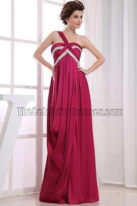 One Shoulder A-Line Prom Evening Dresses Gowns