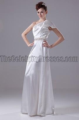 Floor Length One Shoulder Wedding Dress Bridal Gown