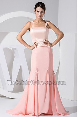 Celebrity Inspired Pink Mermaid Prom Dress Formal Evening Dresses