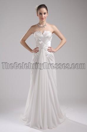 Celebrity Inspired Strapless Prom Gown Wedding Dress