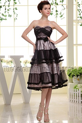Strapless Sweetheart A-Line Cocktail Dress Short Prom Dresses