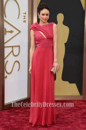 Olga Kurylenko Backless Prom Dress Oscars 2014 Red Carpet