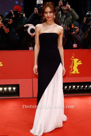 Olga Kurylenko Black And White Evening Gown Berlin Film Festival Closing Ceremony TCD6040
