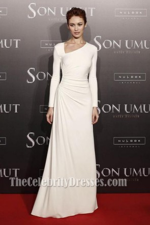 Olga Kurylenko Ivory Long Sleeve Formal Dress'The Water Diviner' Istanbul Premiere TCD5998