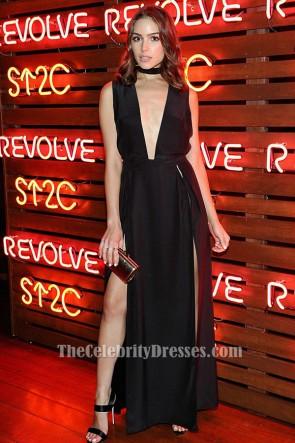 Olivia Culpo Sexy Plunge Evening Dress Cancer Benefit fashion show TCD6379