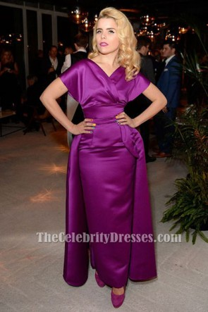 Paloma Faith Floor Length Purple Formal Dress Evening Gown TCD6467