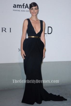 Paz Vega Black Mermaid Formal Dress 2014 amfAR Cinema Against AIDS Gala Celebrity Dress TCD6890