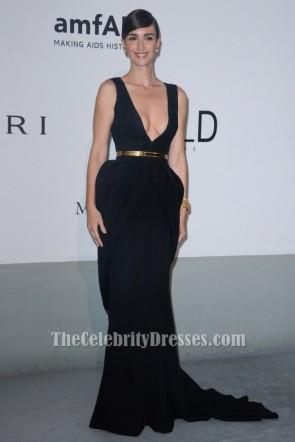 Paz Vega Black Mermaid Formal Dress 2014 amfAR Cinema Against AIDS Gala Celebrity Dress TCD6890