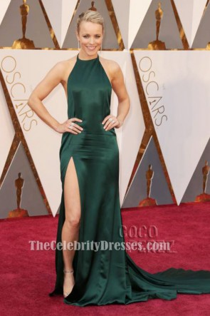 Rachel McAdams Sexy Halter Backless Evening Dress 88th Oscars Red Carpet