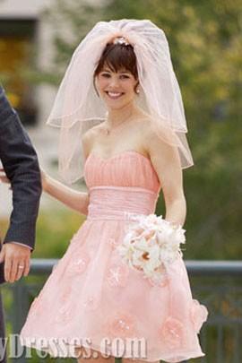 "Rachel McAdams Short Pink Wedding Dress In Movie ""The Vow"" Dresses"