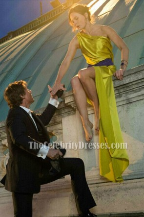 Rebecca Ferguson sEXY One Shoulder yellow Dress in Mission Impossible 5