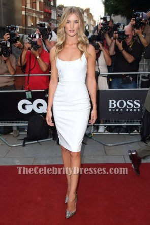 Rosie Huntington-Whiteley White Party Dress 2013 GQ Men Of The Year Awards TCD6580