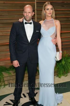 Rosie Huntington Whiteley Baby Blue Prom Dress Vanity Fair Oscar Party 2014
