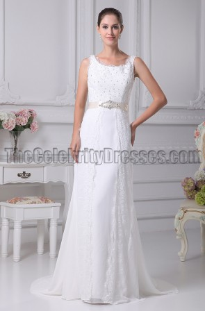 Elegant Lace Sheath/Column Wedding Dresses