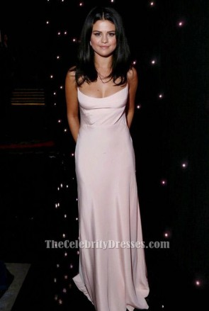 Selena Gomez Pale Pink Evening Dress 19th annual hollywood film festival TCD6538