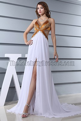 Sexy Backless Evening Dress Formal Prom Gown