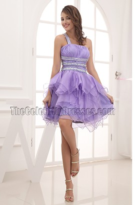 Sexy Backless Beaded Lavender Party Homecoming Dresses