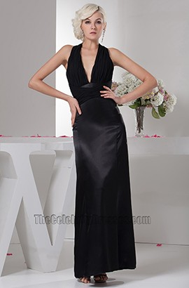 Sexy Black Halter Evening Dress Prom Gown Maxi Dresses
