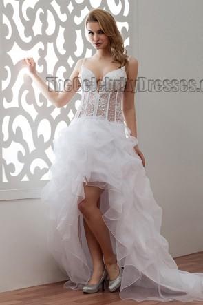 Sexy High Low Spaghetti Straps A-Line Wedding Dresses