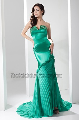 Sexy Hunter Strapless Evening Gown Prom Dresses