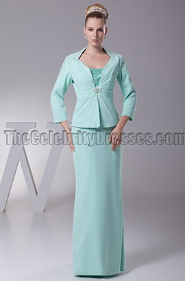 Sheath/Column Floor-length Mother of the Bride Dress With A Wrap