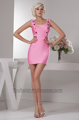 Hot Pink Mini Party Graduation Homecoming Dresses