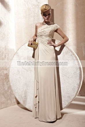 Sheath/Column One Shoulder Evening Prom Dress With Beading