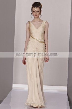 Sheath/Column V-Neck Formal Dress Evening Gown With Beading