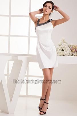 Sheath/Column White Graduation Party Homecoming Dresses