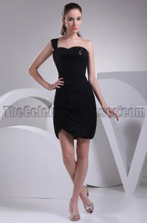 Short One Shoulder Little Black Dress Party Dresses