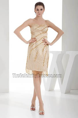 Short Sweetheart Strapless Beaded Party Cocktail Dress
